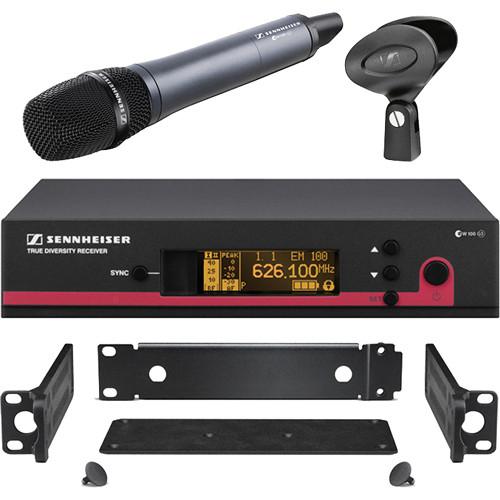 Sennheiser ew 135 G3 Wireless Handheld Microphone System with GA 3 Rack Kit - B (626-668 MHz)