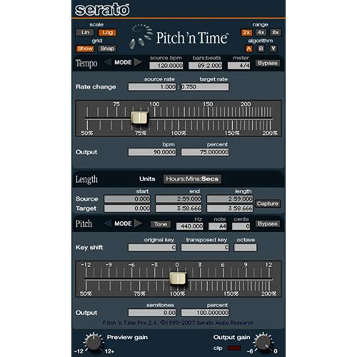 Serato Pitch 'n Time Pro - Time-Stretching and Pitch-Shifting Plug-In (Exchange for Pitch 'n Time LE)
