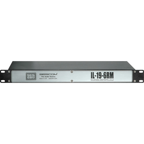 Sescom IL-19-6RM 6-Channel In-Line Isolation Hum Eliminator