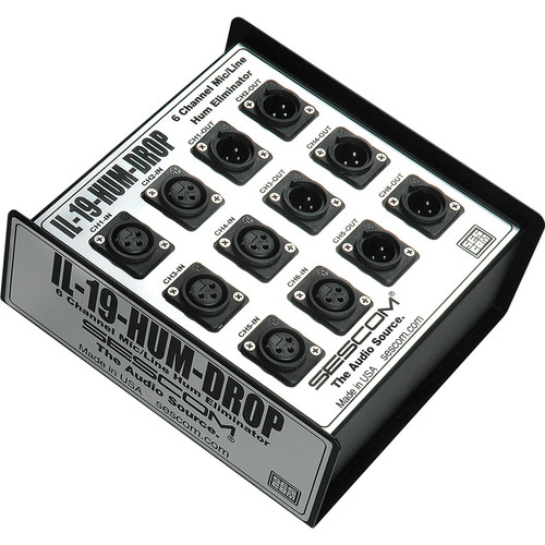Sescom IL-19-HUM-DROP 6 Channel Hum Eliminator/Isolator for FOH