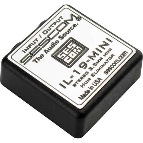 Sescom IL-19-MINI 3.5mm Stereo Mini I/O Hum Eliminator