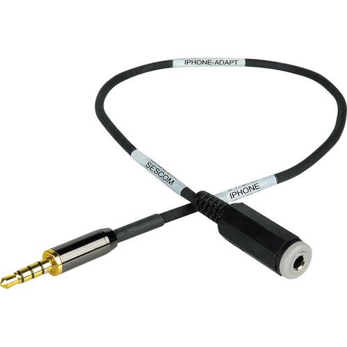 Sescom 2' (61.0 cm) iAdapt iPhone/iPod/iPad TRRS Plug to TRRS Jack Adapter Cable