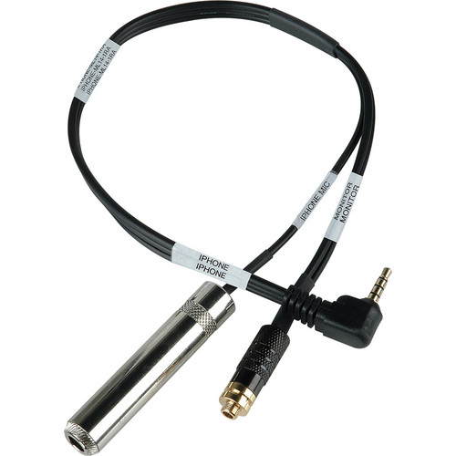 "Sescom TRRS to 1/4"" Jack Guitar Level and 3.5mm Headphone Monitor Jack Cable"