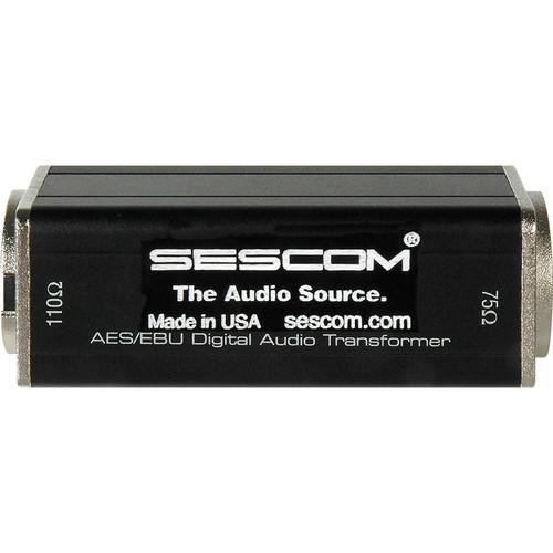 Sescom BNC Female to XLR Male AES/EBU Impedance Transformer