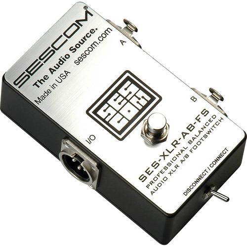 Sescom Balanced XLR A/B Passive Foot Switch