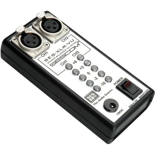 Sescom SES-XLR-VU 2-Channel XLR Inline LED Audio VU Meter