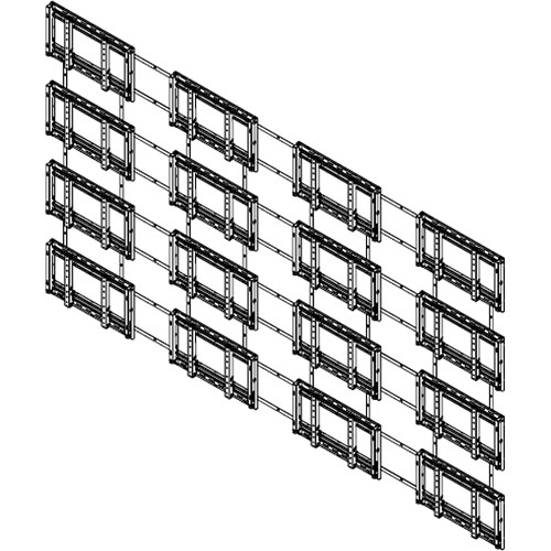 Sharp PNPW440 4 x 4 Video Wall Mounting System (Landscape)