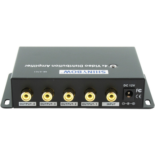Shinybow SB-3701RCA 1x4 Composite Video Digital Distribution Amplifier
