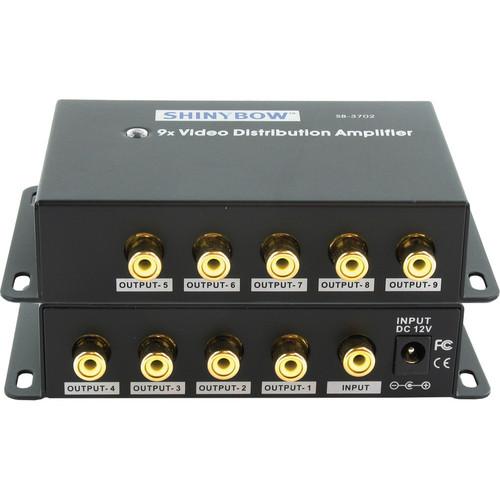 Shinybow SB-3702RCA 1 x 9 Composite Video Distribution Amplifier (RCA)