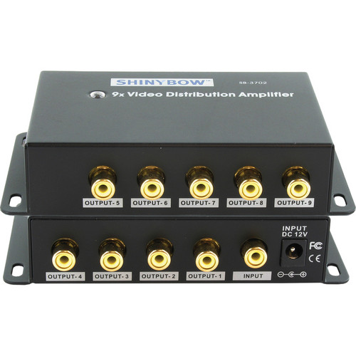 Shinybow SB-3702RCA 1 x 9 Composite Video Distribution Amplifier (RCA)