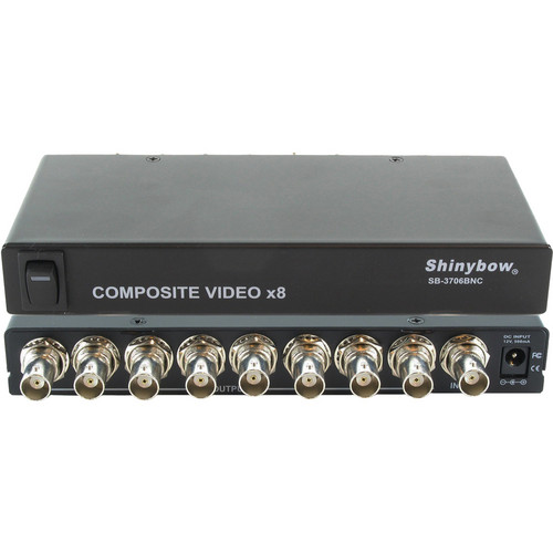 Shinybow SB-3706BNC 1 x 8 Composite Video Distribution Amplifier