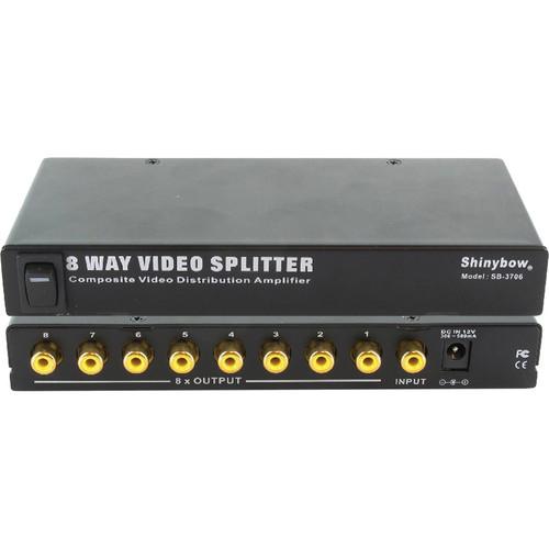Shinybow SB-3706 1 x 8 Composite Video Distribution Amplifier