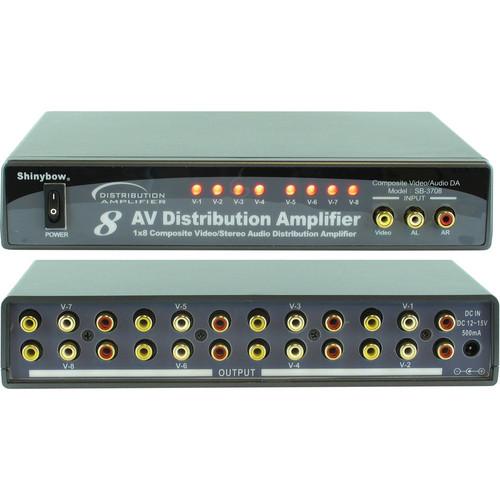 Shinybow SB-3708 1 x 8 Composite Video Audio Distribution Amplifier