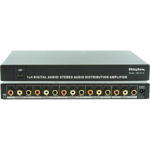 Shinybow SB-3710 1 x 4 Digital Video Audio Distribution Amplifier