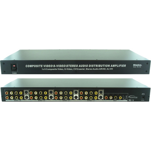 Shinybow SB-3737SV 1 x 8 S-Video Digital Video/Audio Distribution Amplifier