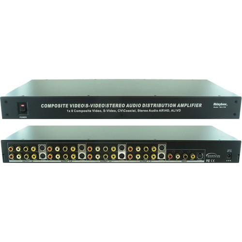 Shinybow SB-3737SV 1 x 8 S-Video Digital Video/Audio Distribution Amplifier