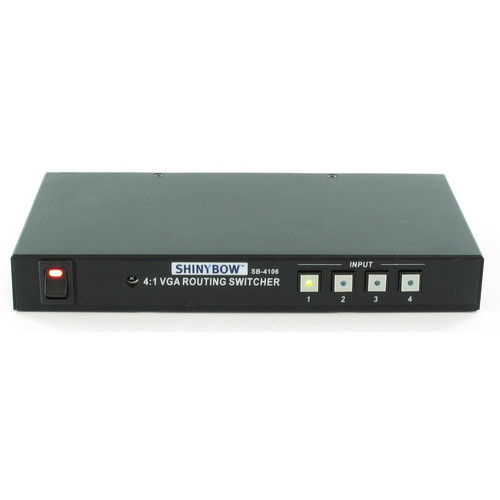 Shinybow SB-4106 4 x 1 VGA-RGBHV Matrix Routing Switcher with IR Control