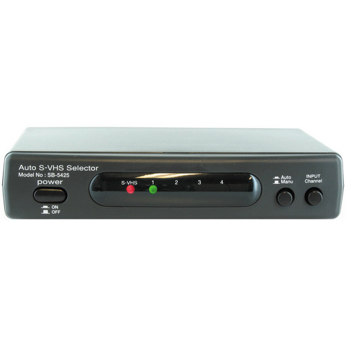 Shinybow SB-5425 4x2 Automatic S-Video/Stereo Audio Switcher