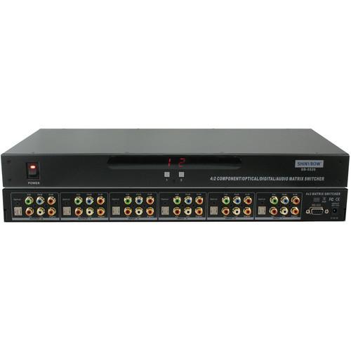 Shinybow SB-5526 4 x 2 Component Video & Audio Matrix Switcher with IR & RS-232