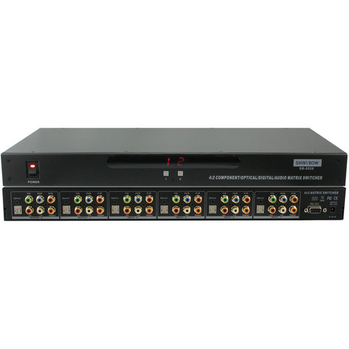 Shinybow SB-5526 4 x 2 Component Video & Audio Matrix Switcher with IR & RS-232