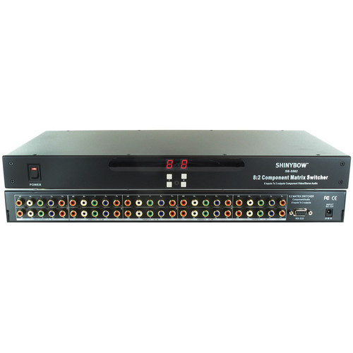 Shinybow SB-5582 8 x 2 Component Video & Audio Matrix Switcher with RS-232