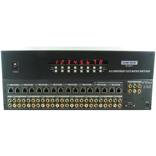 Shinybow SB-5588CT 8x8 Component Video w/ Digital/Analog Audio Matrix Switcher