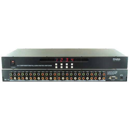 Shinybow SB-5644 4 x 4 HDTV Component / Digital / Audio Matrix Routing Switcher