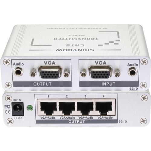 Shinybow SB-6310T CAT5/VGA RGBHV/HDTV Stereo Audio Transmitter