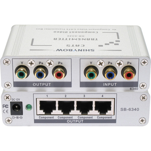 Shinybow SB-6340T CAT5/Component Video RGB/HDTV 4-Port Transmitter