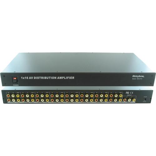 Shinybow SB-3712 1 x 16 Composite Video & Audio Distribution Amplifier