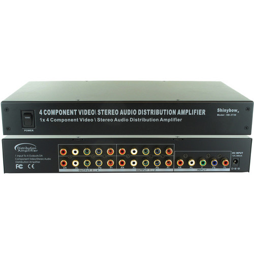 Shinybow SB-3730 1 x 4 Component-Audio Distribution Amplifier