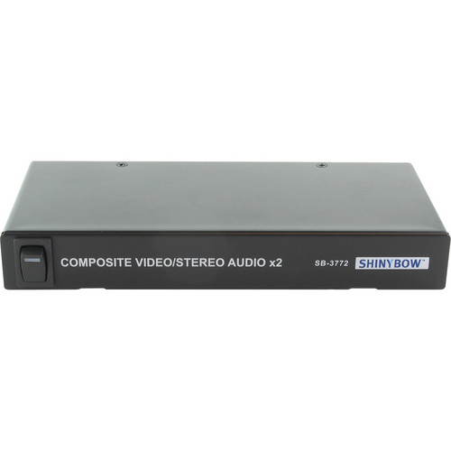 Shinybow 1 x 2 Composite Audio / Video Distribution Amplifier