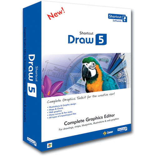 Shortcut Software Draw 5 Software for Windows