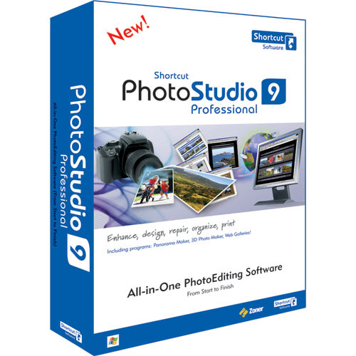 Shortcut Software PhotoStudio 9 Pro Software for Windows