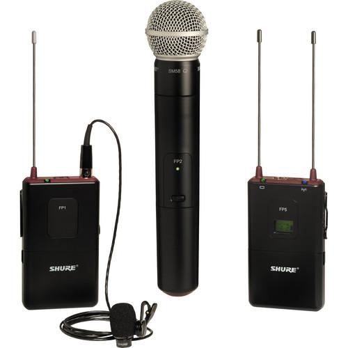 Shure FP Wireless Bodypack & Handheld Combo System (G4 / 470 - 494MHz)