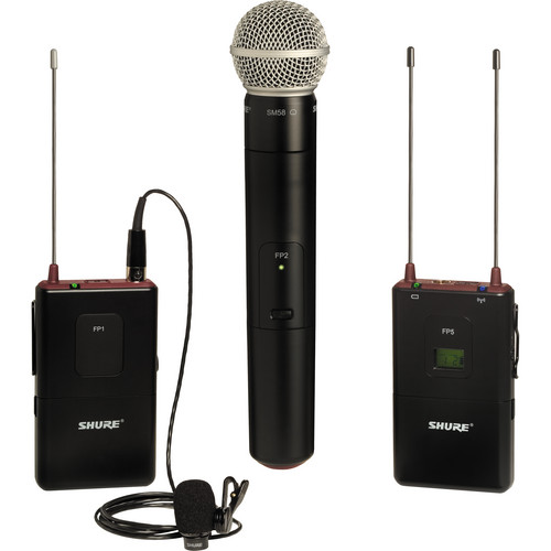 Shure FP Wireless Bodypack & Handheld Combo System (H5 / 518 - 542MHz)