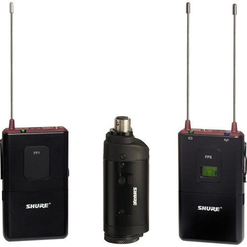 Shure FP Wireless Bodypack & Plug-on Combo System (L4 / 638 - 662MHz)