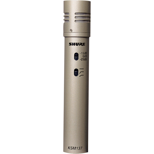 Shure KSM137/SL Cardioid Microphone (Single Microphone)