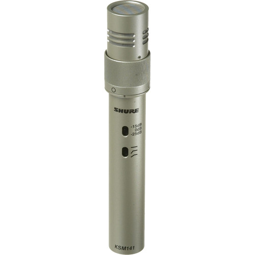 Shure KSM141/SL Condenser Microphone (Single Microphone)