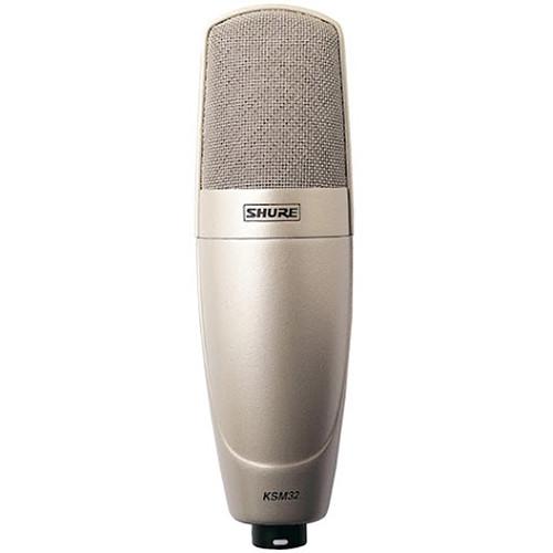 Shure KSM32/SL Large-Diaphragm Cardioid Condenser Microphone (Champagne)