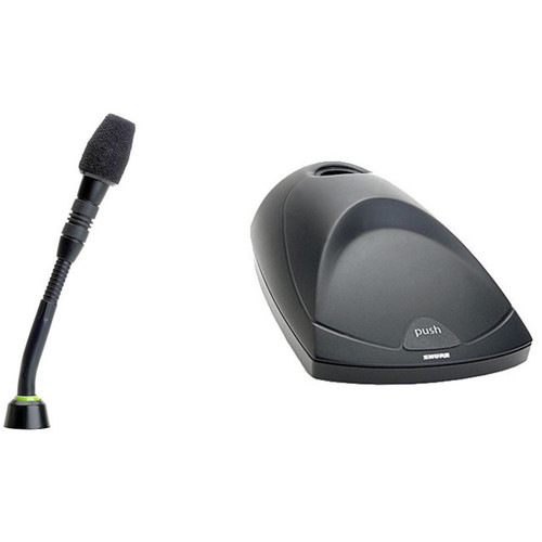 Shure MX405W 5-inch Gooseneck Microphone and Wireless Desktop Base (Supercardioid)