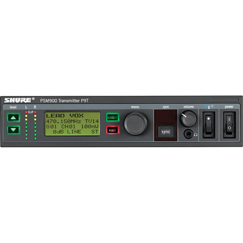 Shure P9T Wireless Transmitter for PSM900 (G7: 506-542MHz)