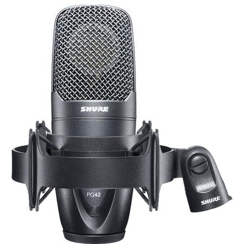 Shure PG42 Cardioid Condenser Vocal Microphone with Case and Shock Mount