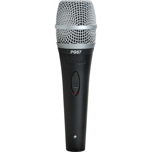 Shure PG57-XLR Cardioid Dynamic Instrument Microphone with XLR to XLR Cable