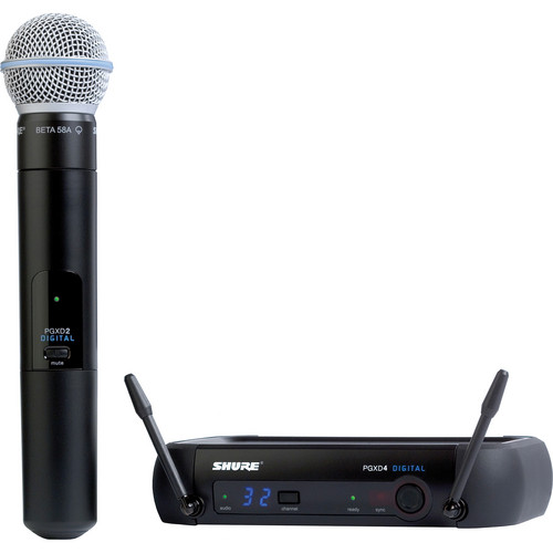 Shure PGXD Digital Series Wireless Handheld Microphone System with Beta 58 Capsule