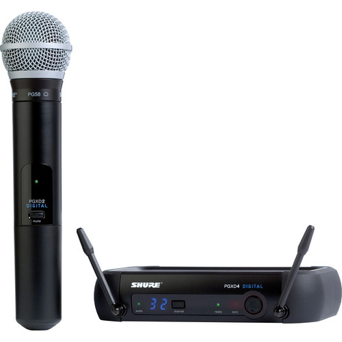 Shure PGXD Digital Series Wireless Handheld Microphone System with PG58 Capsule