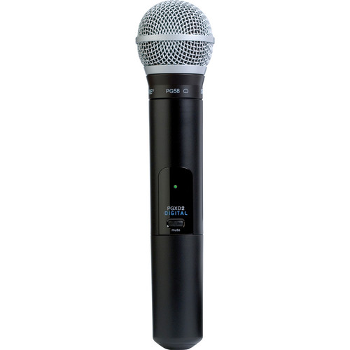 Shure PGXD2/PG58 Digital Wireless Handheld Microphone Transmitter with PG58 Capsule