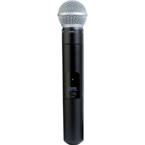 Shure PGXD2/SM58 Digital Wireless Handheld Microphone Transmitter with SM58 Capsule