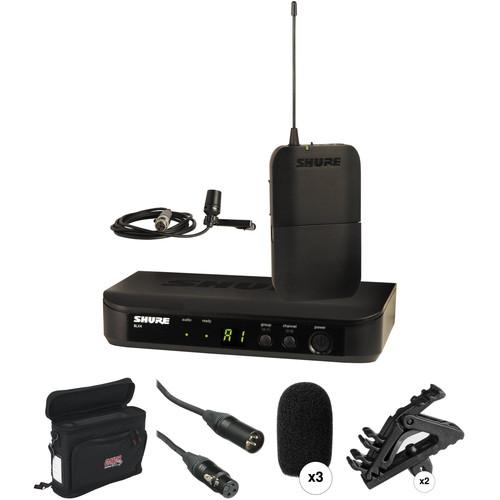 Shure BLX Series Basic Wireless Lavalier Microphone Kit (J10: 584 - 608 MHz)