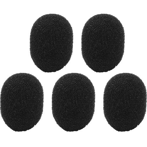Shure Foam Windscreen for MC50B, WL50, WL51, and Beta53 - 5-pack (Black)
